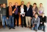 photo Officiels et entrepreneurs lors de la réception travaux